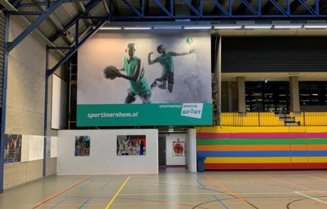 Sportbedrijf Arnhem binnenreclame