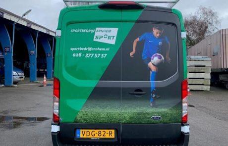 Sportbedrijf Arnhem voertuigreclame