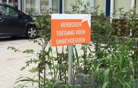 Bewegwijzering verboden toegang