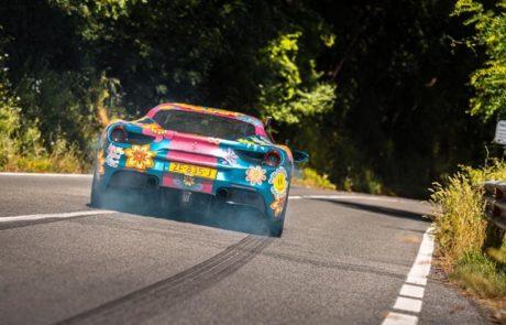 Carwrapping Ferrari Bloemen