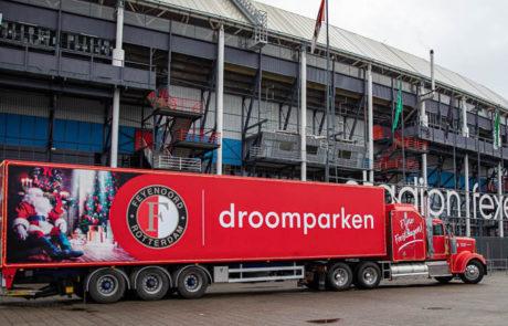 Droomparken vrachtwagen stadion