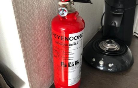 Feyenoord vakantiehuis brandblusser