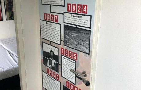 Feyenoord vakantiehuis deur