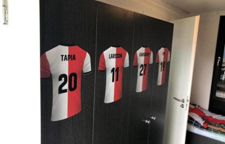 Feyenoord vakantiehuis kast