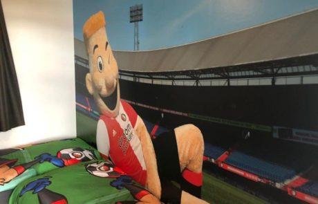 Feyenoord vakantiehuis slaapkamer