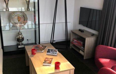 Feyenoord vakantiehuis woonkamer