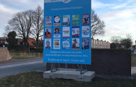 Verkiezingsbord Den Helder