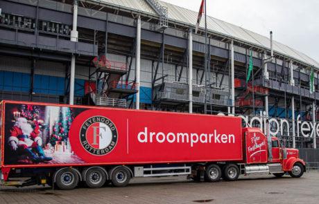 Vrachtwagen belettering Feyenoord