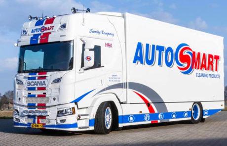 Vrachtwagen belettering autosmart