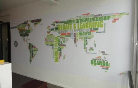 Wandaankleding wereldkaart