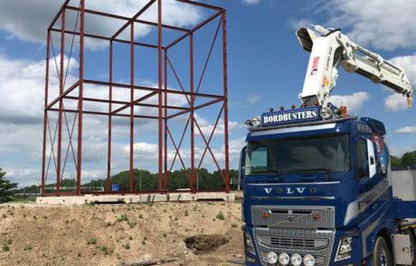 Mega-Bordbuster Dordrecht opbouw