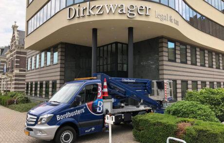 Buitenreclame Dirkzwager Profiel 3 met RVS geslepen voorzijde