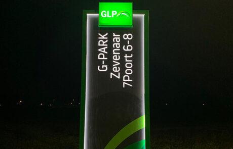 Verlicht reclamezuil GLP