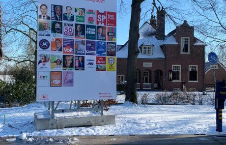 Verkiezingsborden tweede kamer verkiezingen 2021